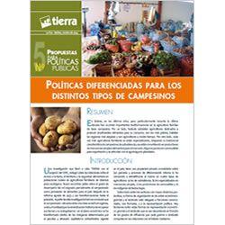 Políticas diferenciadas para los distintos tipos de campesinos