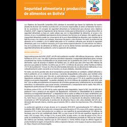 Seguridad alimentaria y producción de alimentos en Bolivia